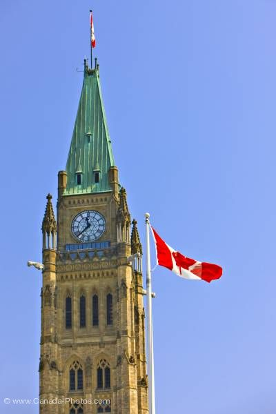 Peace Tower w. flag